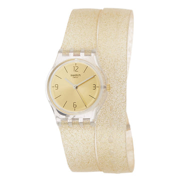 Swatch LK351C Women's New Core Goldendescent Gold Dial Yellow Transparent