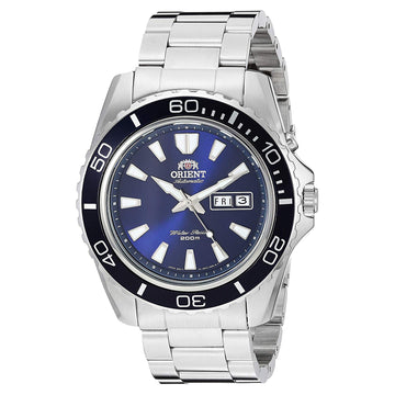 Orient Men's Automatic Dive Watch - Mako XL Blue Dial Steel Bracelet | CEM75002D