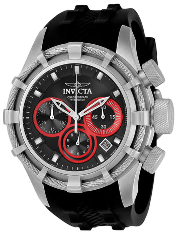 Invicta Men's Chronograph Watch - Bolt Sport Grey & Red Dial Black Strap Dive | 22154