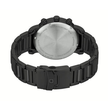 Wenger Men's Bracelet Watch - Attitude Chrono Black Steel | 01.1543.125