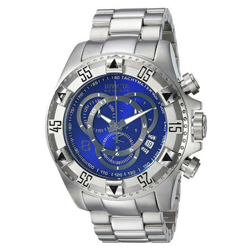 Invicta 24731 Men's Excursion Reserve Blue Dial Chronograph Stainless Steel Bracelet Dive Watch