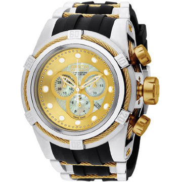 Invicta Men's Bolt Zeus Reserve Chronograph Watch - Swiss Quartz MOP Dial Date | 0828