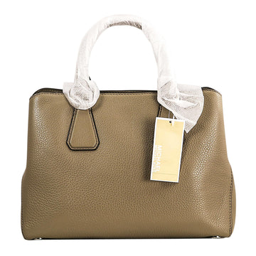 Michael Kors Women's Dark Dune Pebbled Leather Satchel - Camille Medium