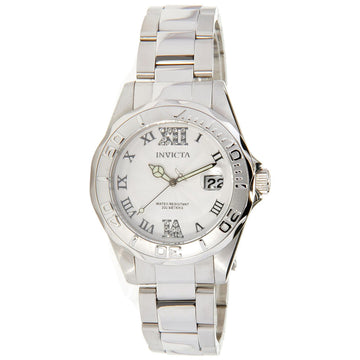 Invicta 14790 Women's Steel Bracelet Quartz Angel Crystal White Dial Date Watch
