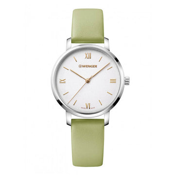 Wenger Women's Strap Watch - Metropolitan Donnissima Green Leather | 01.1731.103