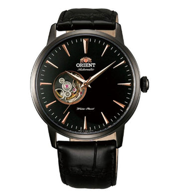 Orient FDB08002B Men's Esteem Black Ion Plated Semi Skeleton Automatice