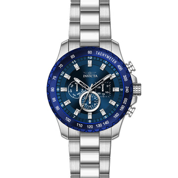 Invicta 24212 Men's Steel Bracelet Quartz Speedway Blue Dial Day-Date Watch