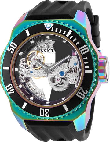 Invicta Men's Automatic Watch - Russian Diver Skeleton Dial Silicone Strap | 25628