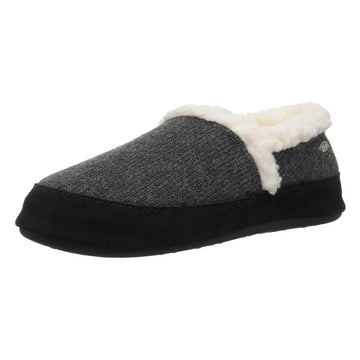 Acorn Women's Slipper - Moc Ragg Wool Dark Charcoal Heather | A10153