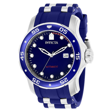 Invicta 23627 Men's Steel & Blue Polyurethane Band Automatic Pro Diver Blue Dial Date Watch