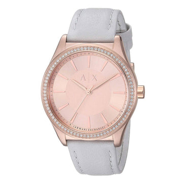 Armani Exchange Women's Strap Watch - Nicolette Rose Gold Dial Crystal | AX5444