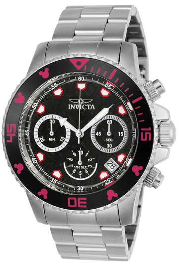 Invicta Men's Chronograph Stainless Steel Watch - Disney Quartz Grey Dial | 22766
