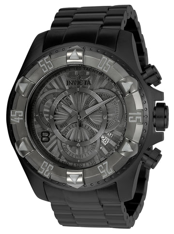 Invicta 24269 Men's Excursion Gunmetal Dial Black IP Steel Bracelet Chronograph Dive Watch