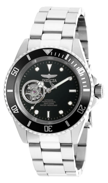 Invicta Men's Automatic Stainless Steel Watch - Pro Diver Black Dial Bracelet | 20433