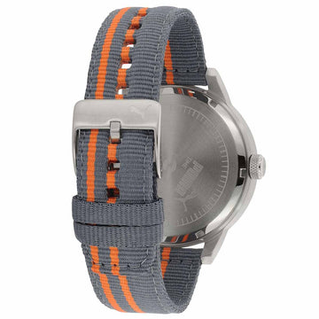 Puma PU103911004 Men's Ultrasize Built Bold Gunmetal IP Steel Bracelet Grey Dial Quartz Lefty Watch