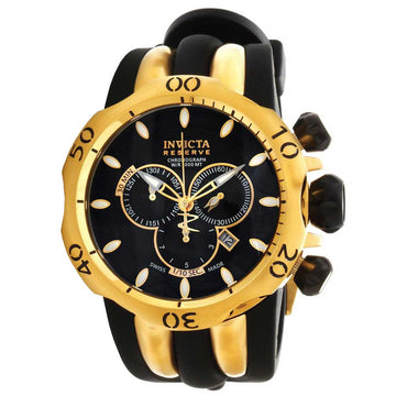 Invicta 10833 Men's Polyurethane And Steel Strap Swiss Reserve Venom Chrono Black Dial Date Watch