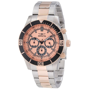 Invicta 12842 Men's Two Tone Rose Gold Bracelet Specialty Chrono Rose Tone Dial Watch