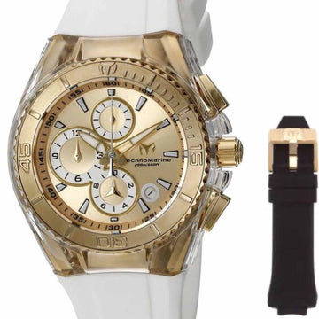 Technomarine Women's Chronograph Watch Set - Cruise Original Gold Dial | TM-115311