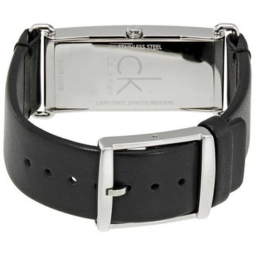 Calvin Klein K0I23102 Women's Citified Black Leather Strap Watch