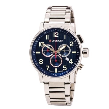 Wenger 01.0343.106 Men's Attitude Chronograph Stainless Steel Bracelet Watch