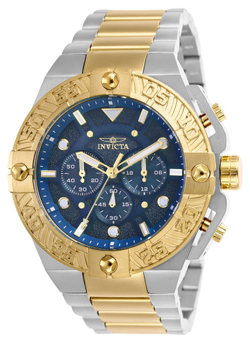 Invicta Men's Chronograph Watch - Pro Diver Blue Dial Two Tone Steel | 25845
