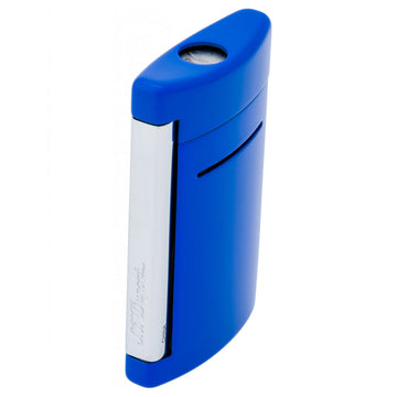 S.T. Dupont 010083 Minijet Blue Strong Chrome Finish Single Flame Torch Lighter