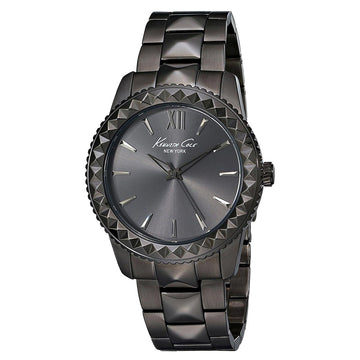 Kenneth Cole 10014632 Women's Classic Black Dial Black IP Steel Bracelet Watch