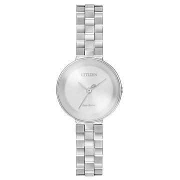 Citizen Women's Eco Drive Watch - L Ambiluna Silver Dial Steel Bracelet | EW5500-81A
