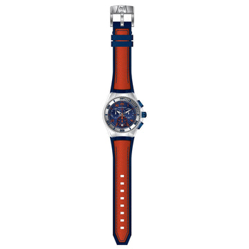Technomarine TM-115020 Unisex Cruise California Blue Dial Orange & Blue Strap Chronograph Dive Watch