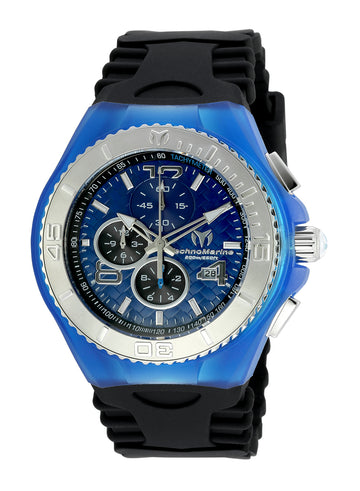 Technomarine Men's Chronograph Watch - Cruise JellyFish Blue Dial Dive | TM-115114