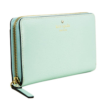 Kate Spade WLRU2155-361 Grand Street Neda Zip Around Women's Mint Blue Leather Wallet