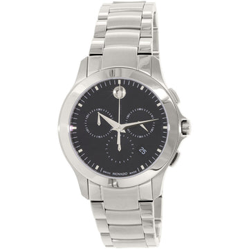 Movado 0606885 Men's Masino Black Dial Chronograph Steel Watch