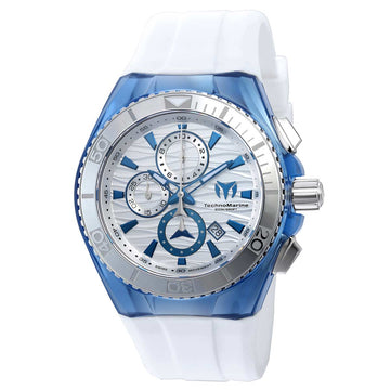 Technomarine TM-115055 Men's Cruise Original Chrono Silver Dial Interchangeable Strap Dive Watch