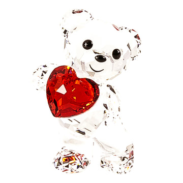 Swarovski 5265310 Clear & Red Crystal A Heart for You Kris Bear