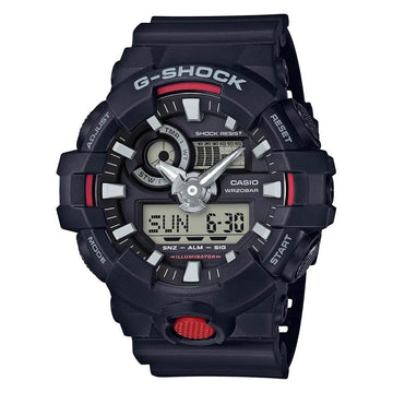Casio Men's Ana-Digital Watch - G-Shock Black Resin Strap Dive | GA700-1A