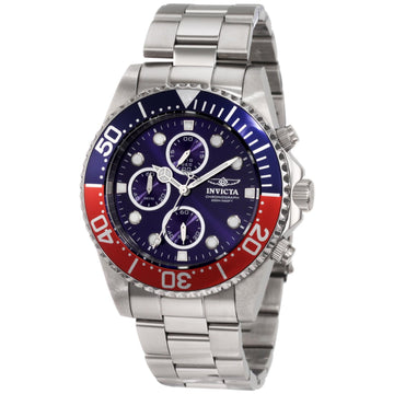 Invicta Men's Chronograph Stainless Steel Watch - Pro Diver Blue Dial Quartz | 1771