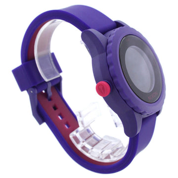 Nixon A326230 Women's The Genie Lefty Purple & Pink Silicone Strap Black Digital Dial Day Date Watch
