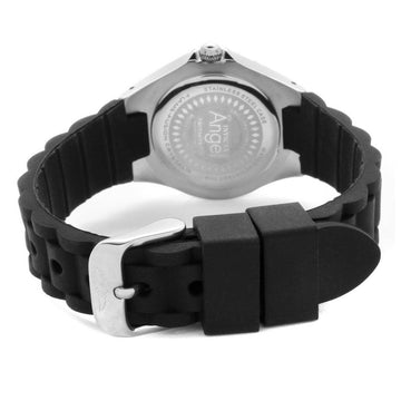 Invicta 1627 Women's Angel White Dial Black Silicone Strap Watch