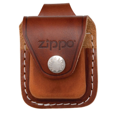 Zippo LPLB Brown Leather Pouch with Loop for Zippo Lighter