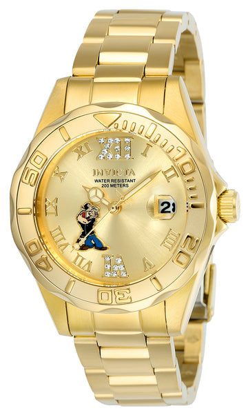 Invicta 24473 Women's Popeye Character Gold Dial Yellow Gold Steel Bracelet Crystal Watch