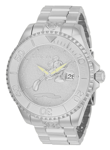 Invicta Men's Automatic Watch - Disney Grand Diver Silver Dial Steel Bracelet | 24529