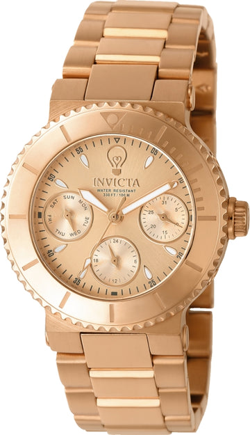 Invicta 22896 Women's Gabrielle Union Rose Gold Dial Rose Gold Steel Bracelet Watch