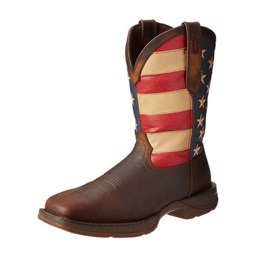 Durango Men's Western Boot - Rebel Brown and Union Flag Patriotic  | DB5554