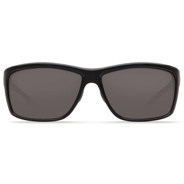 Costa Del Mar AA11OGP Men's Mag Bay Polarized Plastic 580P Grey Mirror Lens Shiny Black Frame Sunglasses