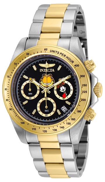 Invicta 24890 Men's Garfield & Odie Character Black Dial Two Tone Steel Chronograph Dive Watch