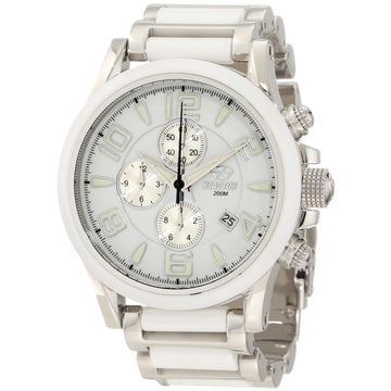 Reactor 67005 Women's Oxide DNA White Dial Steel & Ceramic Bracelet Chronograph Dive Watch