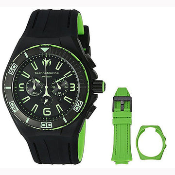 Technomarine TM-115057 Men's Cruise Vision Black Silicone Strap Chrono