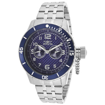 Invicta 14887 Men's Steel Bracelet Quartz Specialty Blue Dial Day-Date Watch