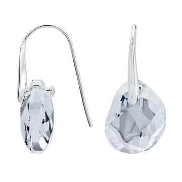 Swarovski Women's Pierced Earrings - Galet Rhodium-Plated Pierced | 665159