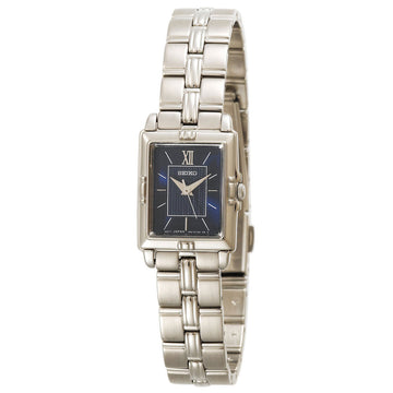 Seiko SXGN45 Women's Dress Quartz Blue Dial Stainless Steel Watch